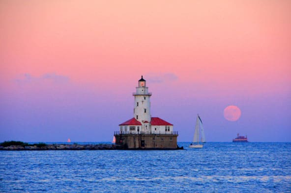Chicago Harbor Lighthouse from Navy Pier