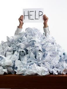 heap of paper
